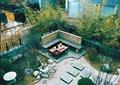 庭院景观,庭院设计,坐凳设计,石板汀步,竹林
