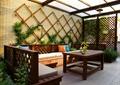 庭院景觀,陽光房花園,沙發組合,鏤空隔斷