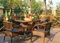 庭院景观,木平台,休闲桌椅组合,栏杆围栏