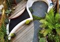 庭院设计,庭院景观,座椅设计,木平台