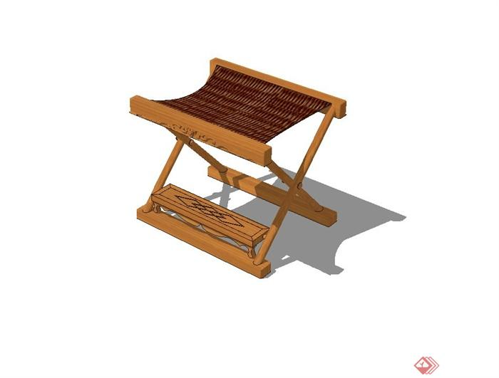 某现代风格折叠坐凳设计su模型