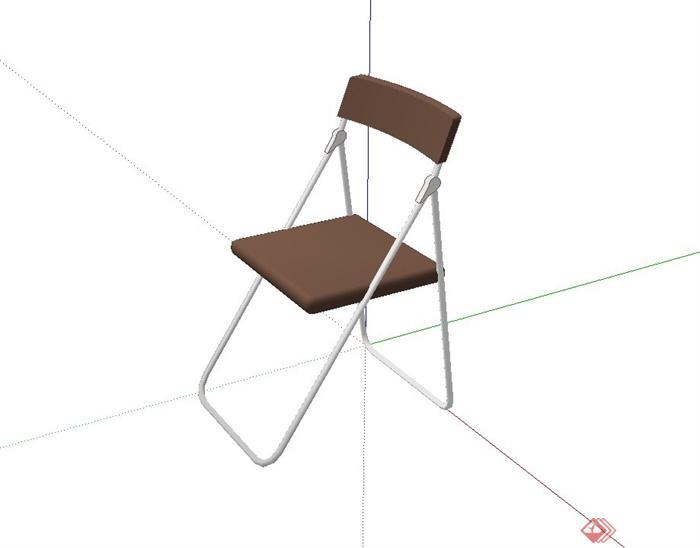 某现代风格折叠椅子设计su模型