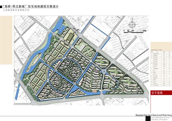 滨河带城市住宅小区规划设计jpg方案以及ppt各式文本