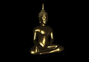 某释迦摩尼雕塑小品3D模型