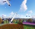 公园景观,公园设计,花园,桥梁,摩天轮
