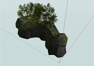 某寺庙精致景石石头设计SU(草图大师)模型