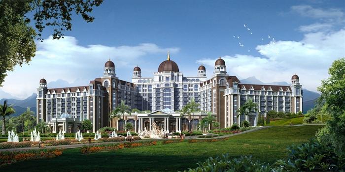 某欧式风格海洋大酒店