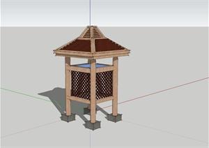 东南亚风格景观亭设计SU(草图大师)模型