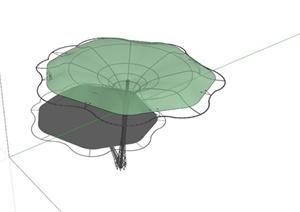 荷叶造型张拉膜小品SU(草图大师)模型