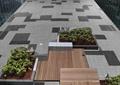 地面铺装,地面素材,花坛,木平台