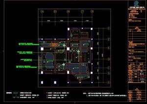 某现代风格检察厅展示展厅设计cad施工图