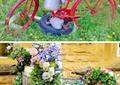自行车架,小品,花架