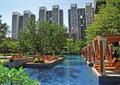 水池景观,休闲廊架,木廊架,树池