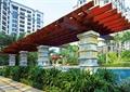 廊架设计,木廊架,水池景观,廊架柱