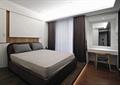 卧室,双人床,梳妆台,椅子,梳妆镜