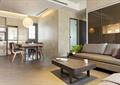 客厅,沙发组合,餐厅,餐桌,吊灯