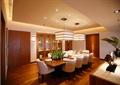 餐厅,餐桌椅,吊灯,柜子