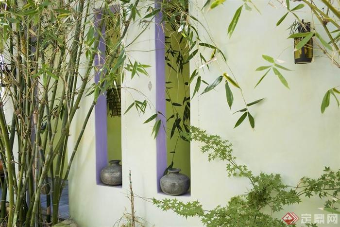 简约国外某半山实景室内陶罐图-楼空景墙别墅别墅碧设计图桂园二层图片