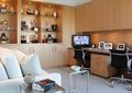 书房,桌椅,沙发,沙发茶几,柜子
