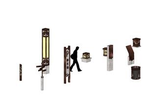 灯具及公共外设施全部模型