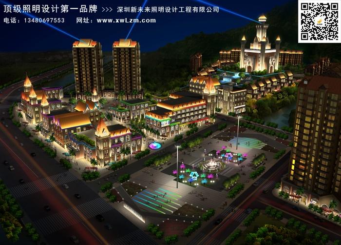 四川广元卡尔城综合体照明设计