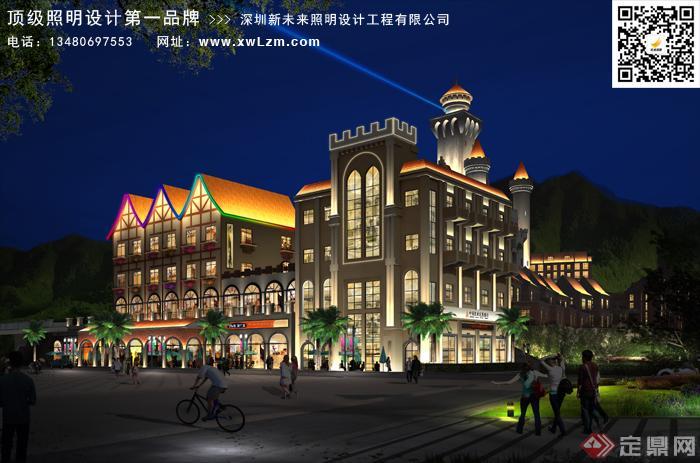 广场卡尔城综合体照明规划设计