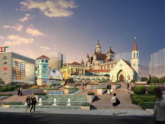 欧式风情小镇su精致建筑设计模型(5)图片