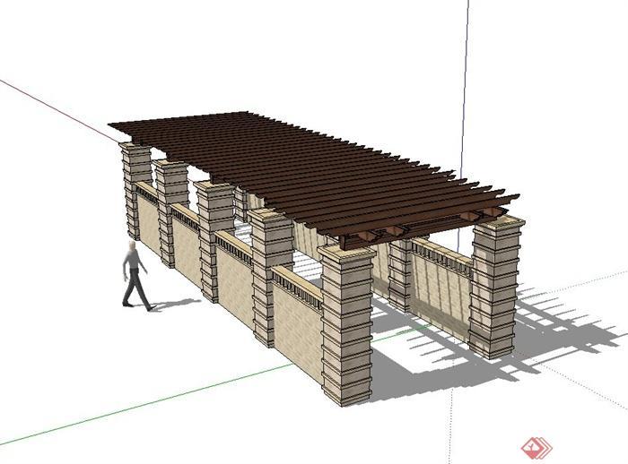 某庭院欧式风格廊架设计su模型,模型有材质贴图,是一个很不错的景观节点资料,可用作景观设计素材使用,欢迎下载使用。