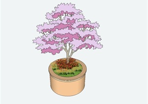 某欧式风格圆形树池花池设计SU(草图大师)模型