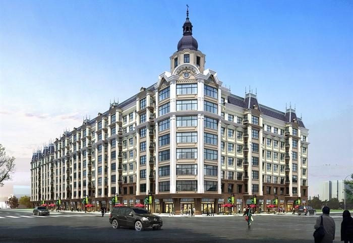 欧式综合建筑设计效果图合集