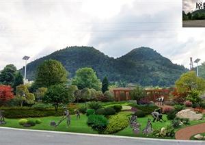 某生态景区休闲广场景观设计psd效果图