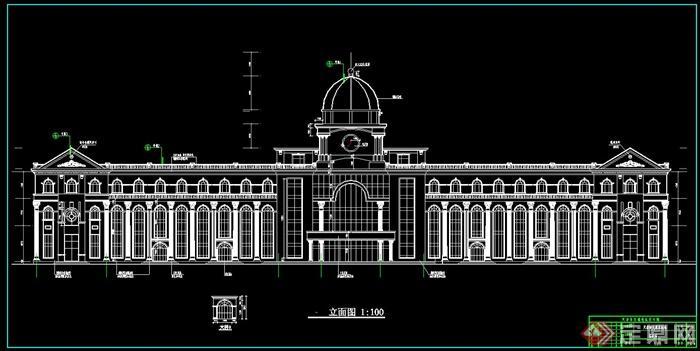 天津市大港客运站建筑设计cad方案