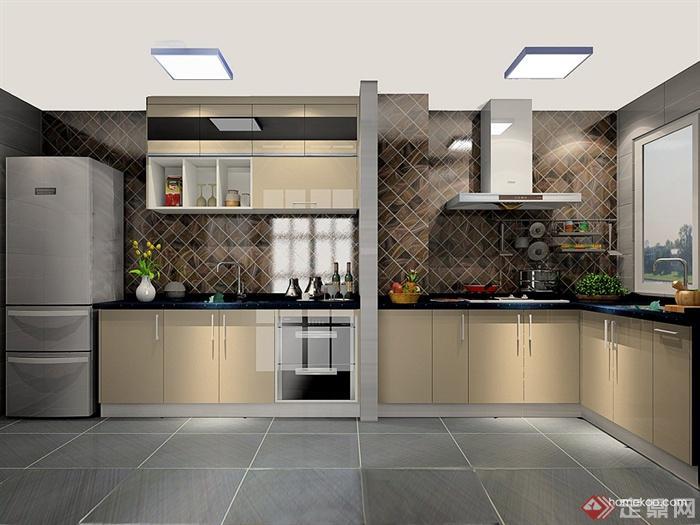 5-6平方现代厨房风格设计-橱柜设计厨房洗菜池设计防脏鞋柜图片