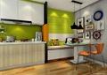 厨房设计,橱柜,餐桌,椅子,吊灯