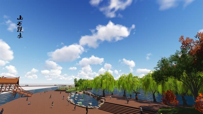 某休闲广场景观设计JPG效果图 SU模型