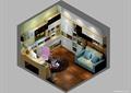 书房,桌椅,沙发,书柜