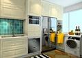 廚房設計,櫥柜,洗菜池,冰箱,洗衣機