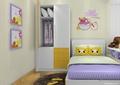 儿童房,卧室,衣柜,床