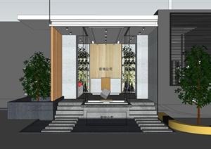 某现代风格咨询公司室内装饰设计SU(草图大师)模型