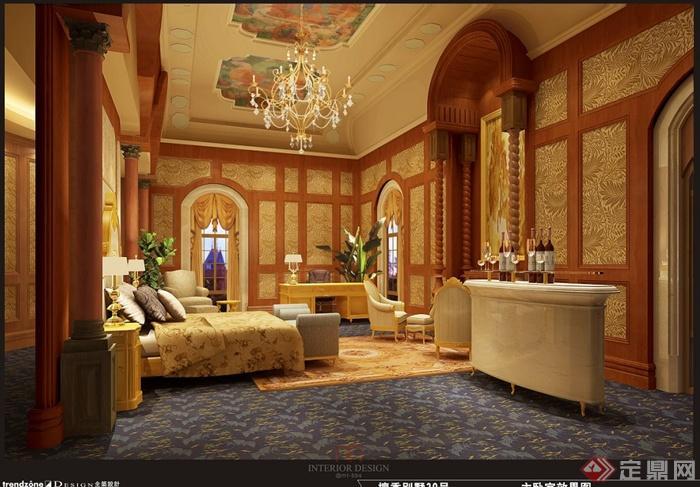 上海檀宫别墅住宅空间设计jpg方案及效果图(2)
