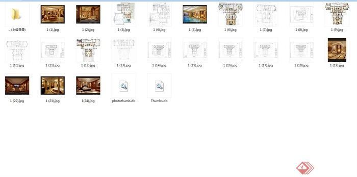 上海檀宫别墅住宅空间设计jpg方案及效果图(8)