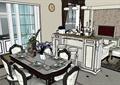 某欧式风格跃层式住宅室内装饰设计su模型