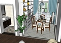 某欧式住宅空间详细装饰设计su模型