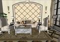 某欧式完整的室内空间装饰设计su模型