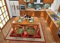 厨房设计,橱柜,洗菜池,餐桌组合
