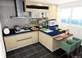 厨房设计,洗菜池,橱柜,吧台,椅子