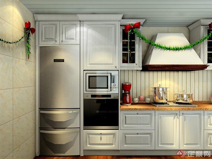 厨房设计,橱柜,冰箱