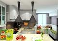 厨房餐厅,厨房,橱柜,厨房餐柜,厨房设施