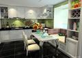 厨房餐厅,橱柜,厨房餐柜,柜子,餐桌椅