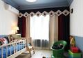 儿童房空间,床,床头柜,台灯